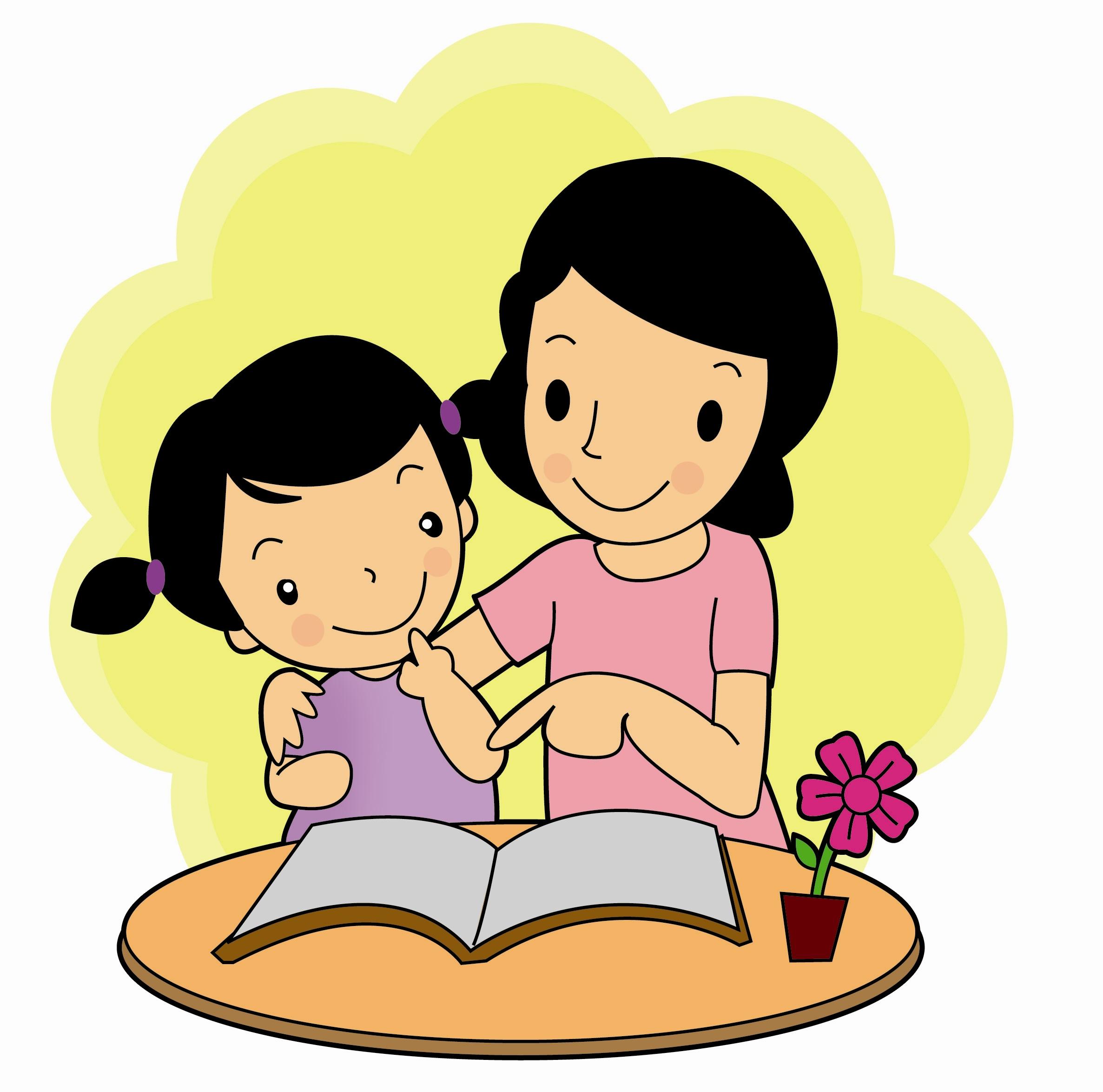 Gambar Kartun Anak Perempuan Sedang Belajar Top Gambar
